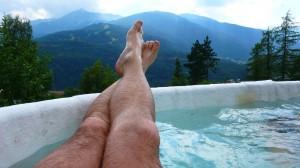 Le gambe di Inachis ai Bagni nuovi di Bormio