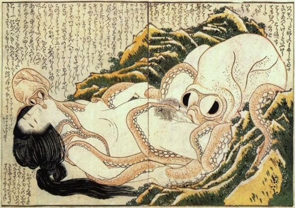 Le Rêve de la femme du pêcheur - Hokusai - 1814